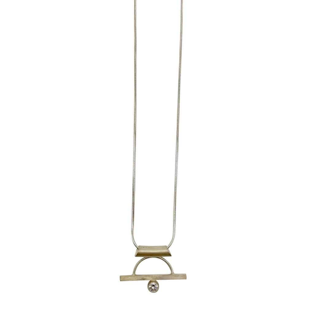 Arc + Stone Necklace
