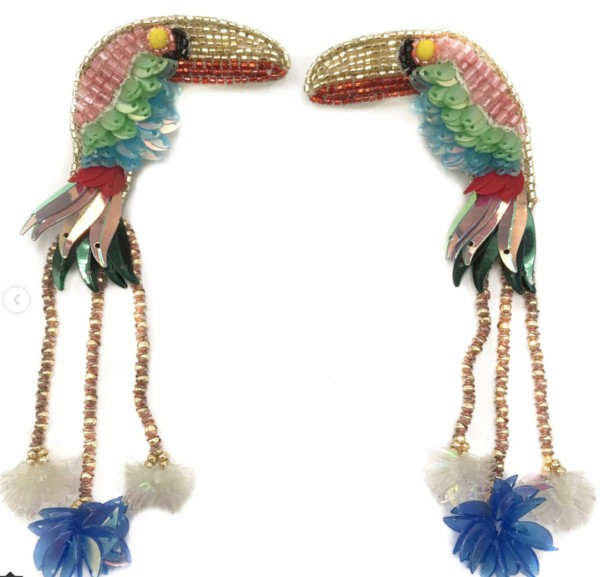 Tiki Toucan Earrings