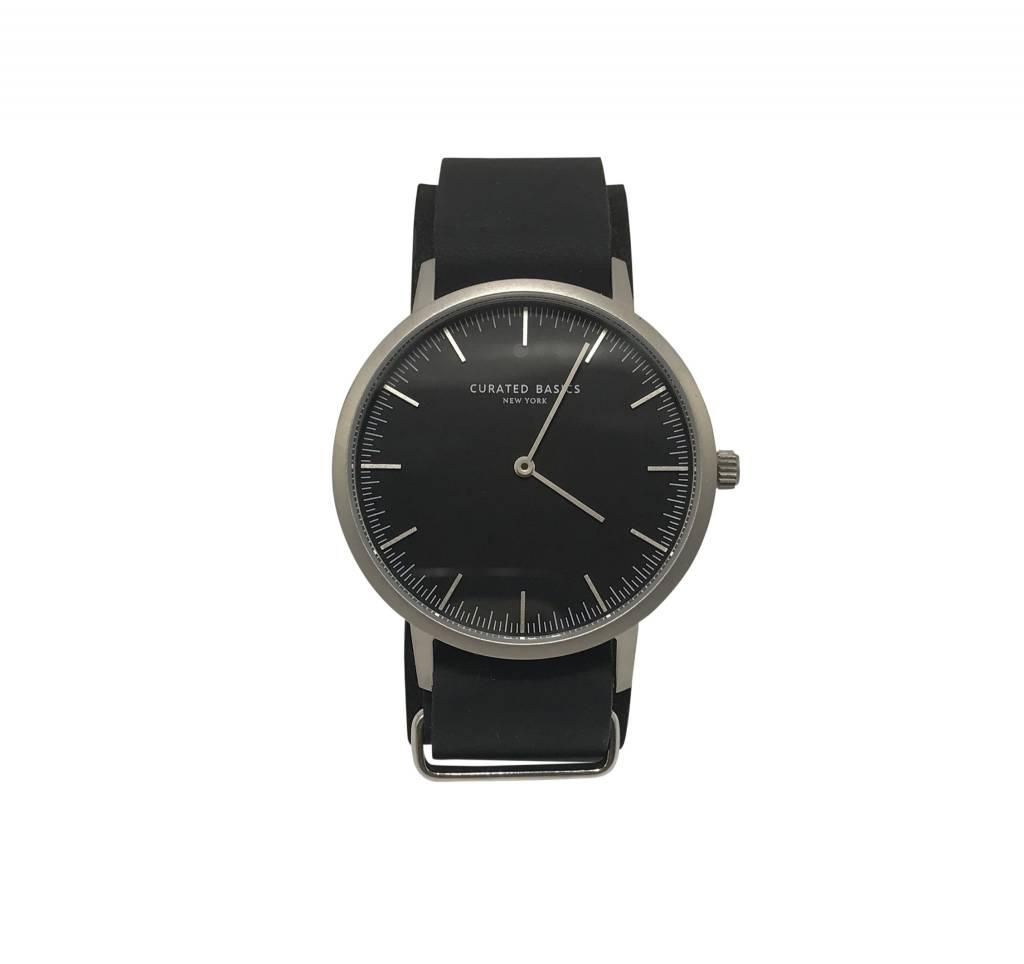 Minimalist Black Leather Watch