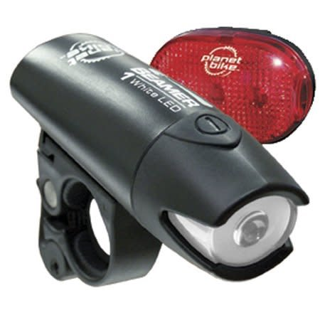 Planet Bike Planet Bike Beamer 1 Headlight and Blinky 3 Taillight, Set