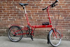 Bike Friday tikit, large, red, loaded, s/n:24935