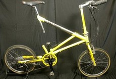 Bike Friday AirGlide, pre-loved, yellow