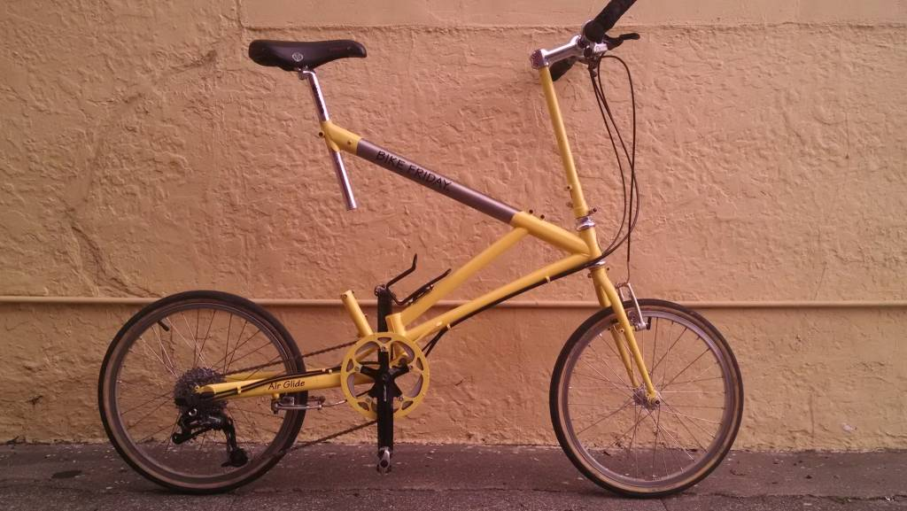 Bike Friday Air Glide, pre-loved, yellow