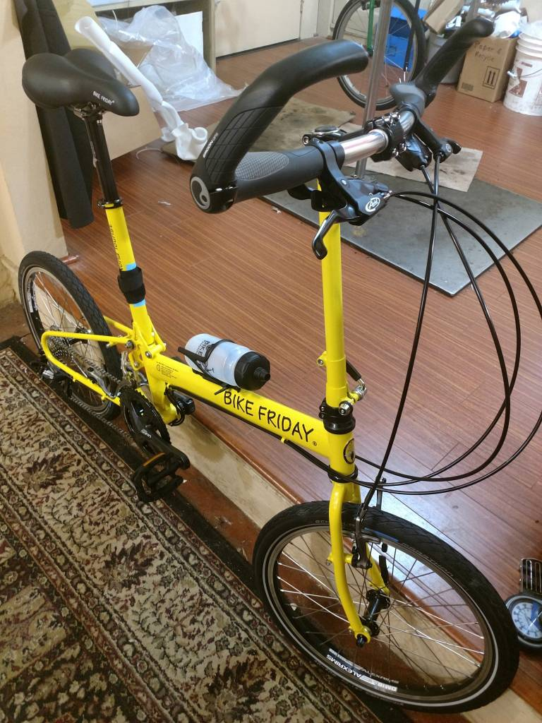Bike Friday Bike Friday New World Tourist, yellow, 56cm, 36350