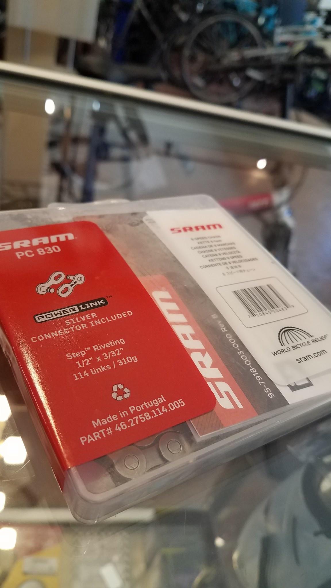 SRAM PC-830 Chain - 6, 7, 8-Speed, 114 Links, Gray