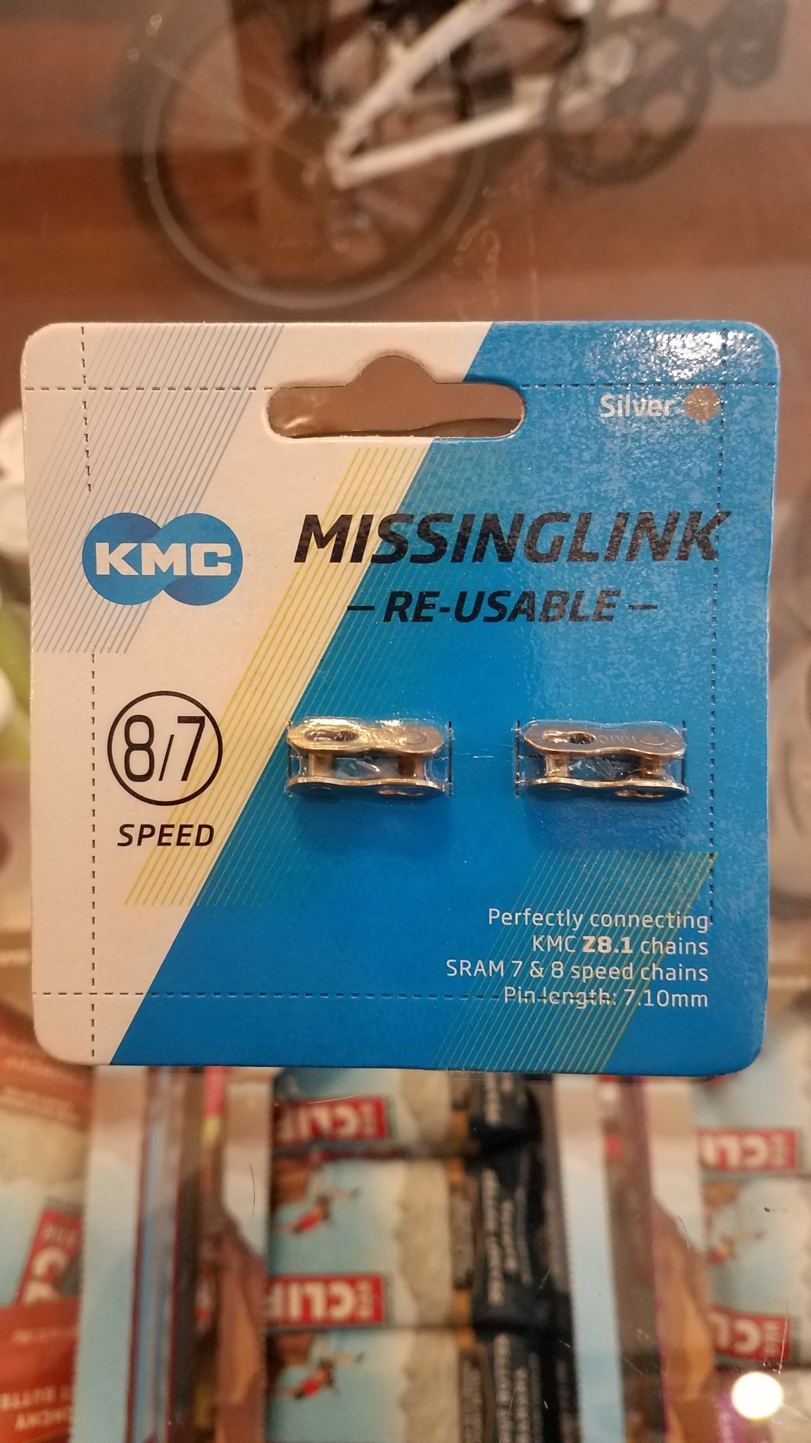 KMC Missing Link II, 7.1 mm (Reusable) (2 Pairs)