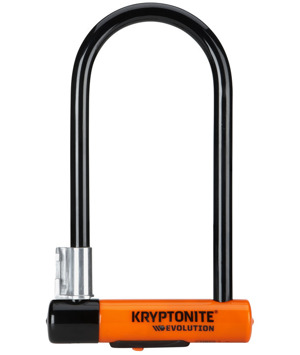 "Kryptonite Kryptonite Evolution Series U-Lock - 4 x 9"", Keyed, Black, Includes bracket (8/10 security)"