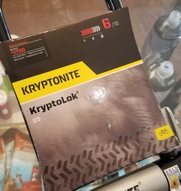 "Kryptonite Kryptonite KryptoLok U-Lock - 4 x 9"", Keyed, Black, Includes bracket (6/10 safety)"