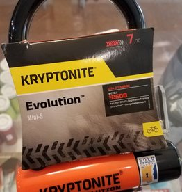 "Kryptonite Evolution Series Mini-5 U-Lock - 3.25 x 5.5"", Keyed, Black, Includes bracket (7/10 safety)"