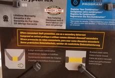 KryptoFlex 1018 Combo Cable Lock: 6' x 10mm
