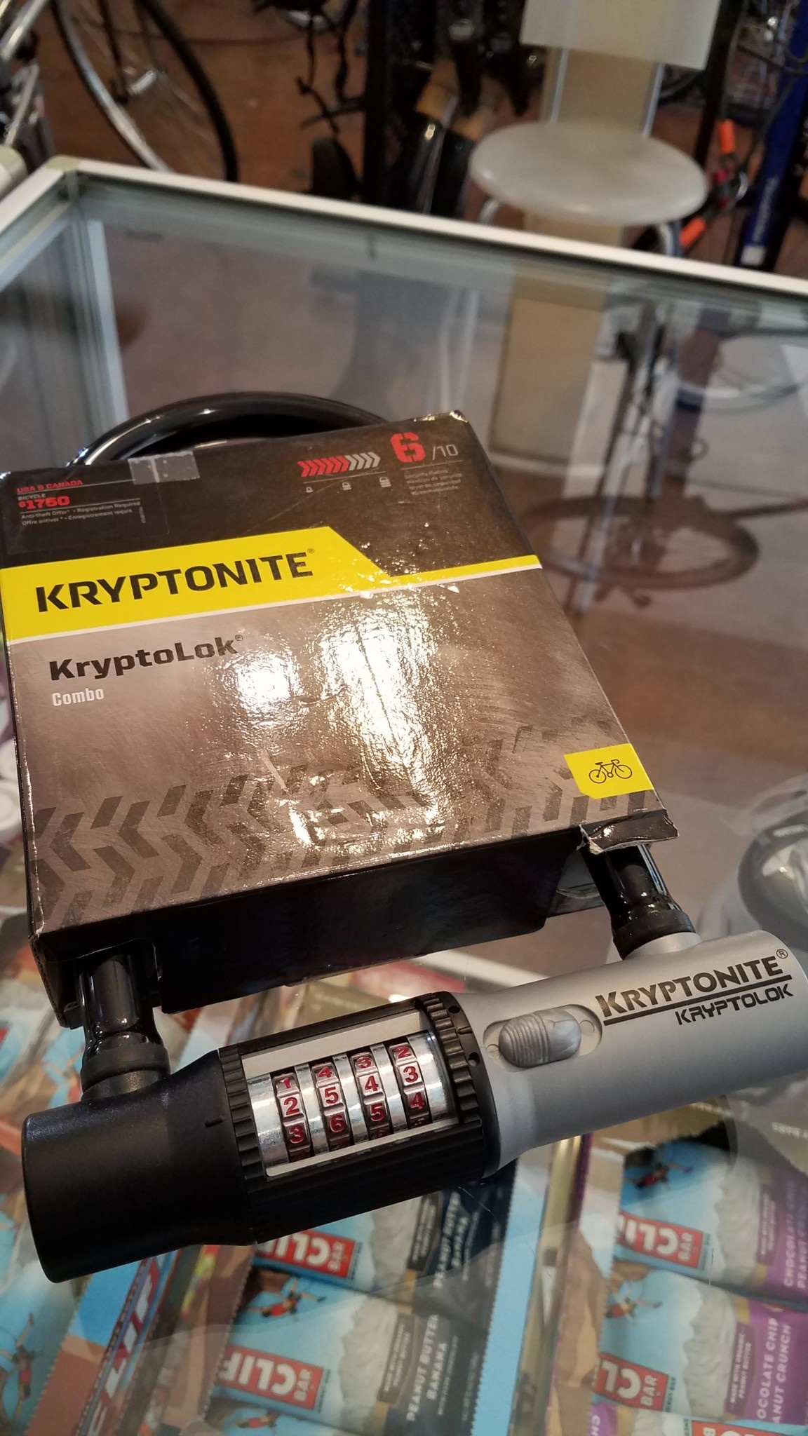 "KryptoLok Combination U-Lock: 4"" x 8"""