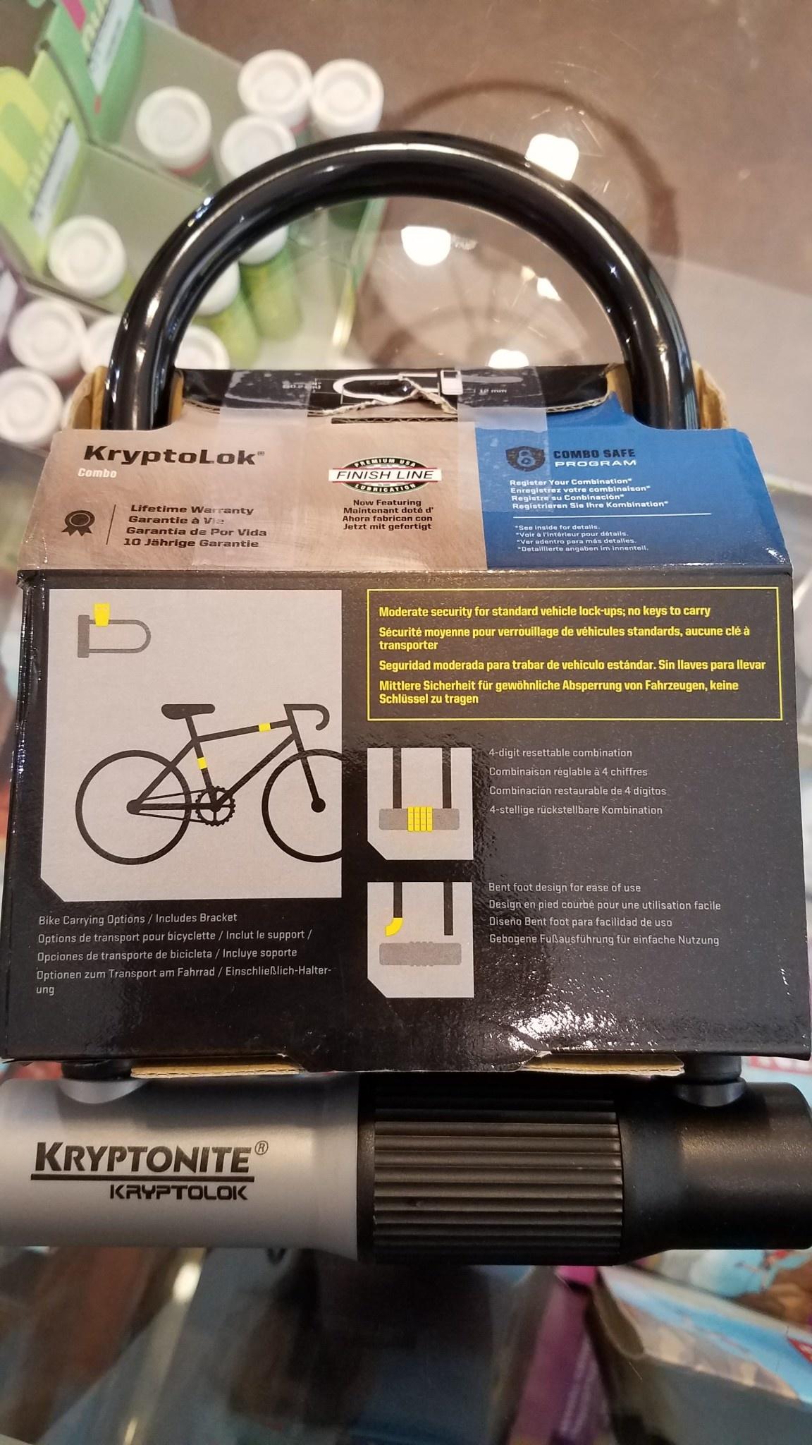 """Kryptonite KryptoLok Combination U-Lock: 4"""" x 8"""""""