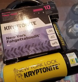 "Kryptonite New York U-Lock - 3.25 x 6"", Keyed, Black"