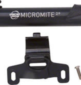Planet Bike Micro Mite II Dual Stage Mini Frame Pump: Presta/Schrader, Black
