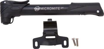 Planet Bike Planet Bike Micro Mite II Dual Stage Mini Frame Pump: Presta/Schrader, Black