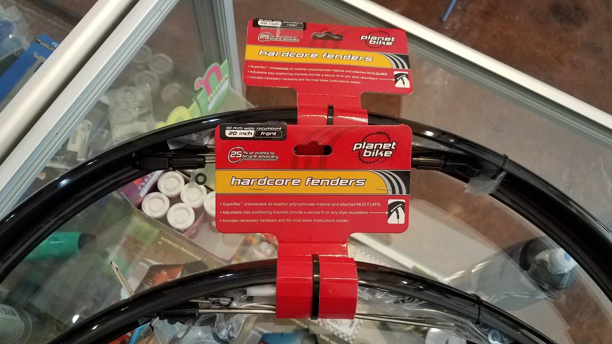"Planet Bike Hardcore Recumbent 20"" Rear Fender, Black (406)"