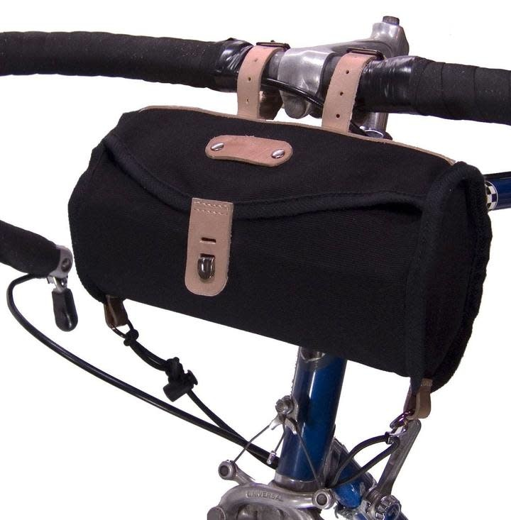 Banjo Brothers Banjo Brothers Minnehaha Canvas Barrel Saddle Bag: Black