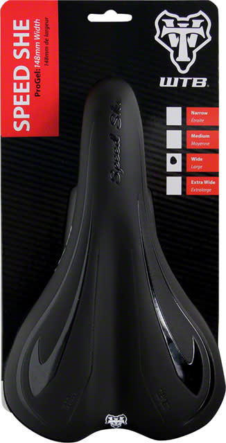 WTB WTB Speed She ProGel Saddle - Steel, Black, Women's