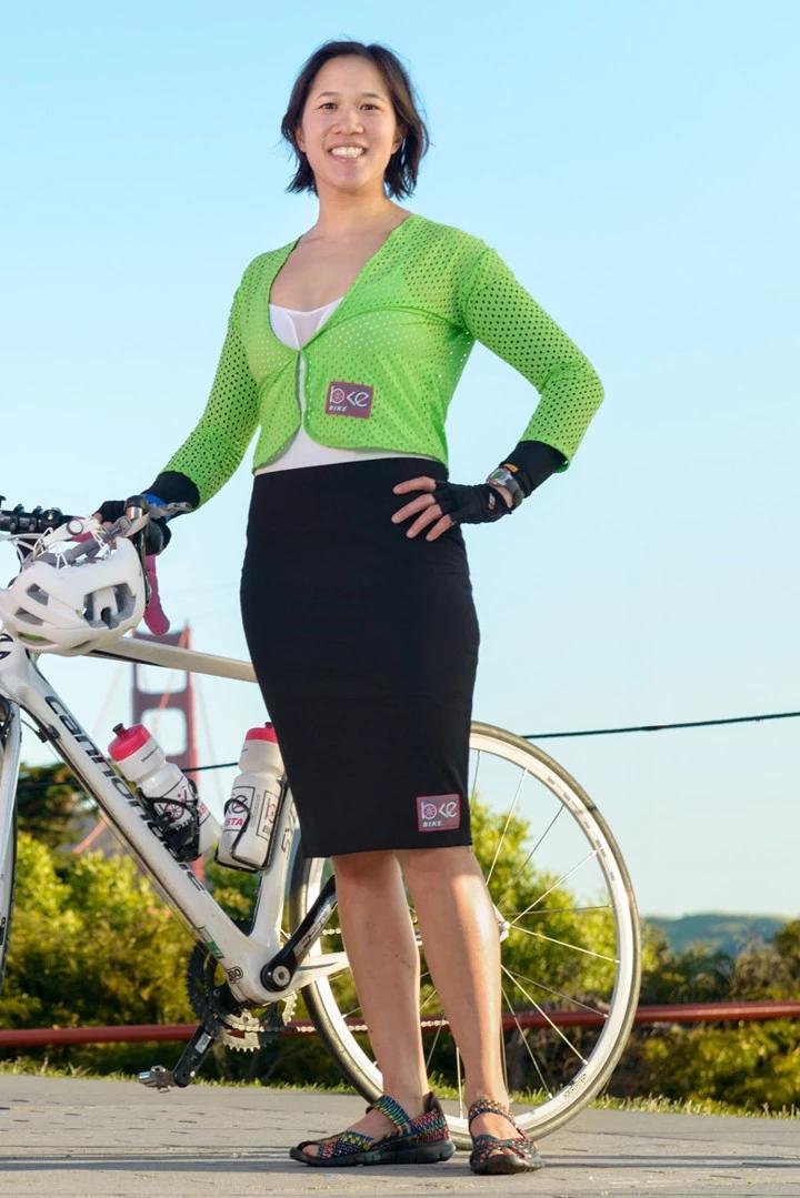 BikeIsta BIKEISTA Zipped Pencil Skirt