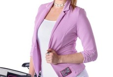 BIKEISTA Office Jacket with Ruched Sleeve