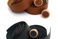 Cardiff Premium Leather Bar Tape, Black