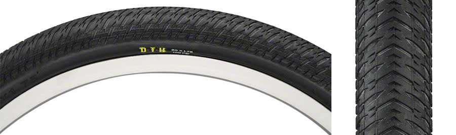 "Maxxis DTH Tire: 20 x 1-3/8"", Wire, 120tpi, Dual Compound, SilkWorm, Black"