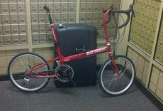 Bike Friday Bike Friday Pocket Rocket, Red, trailer, travel system