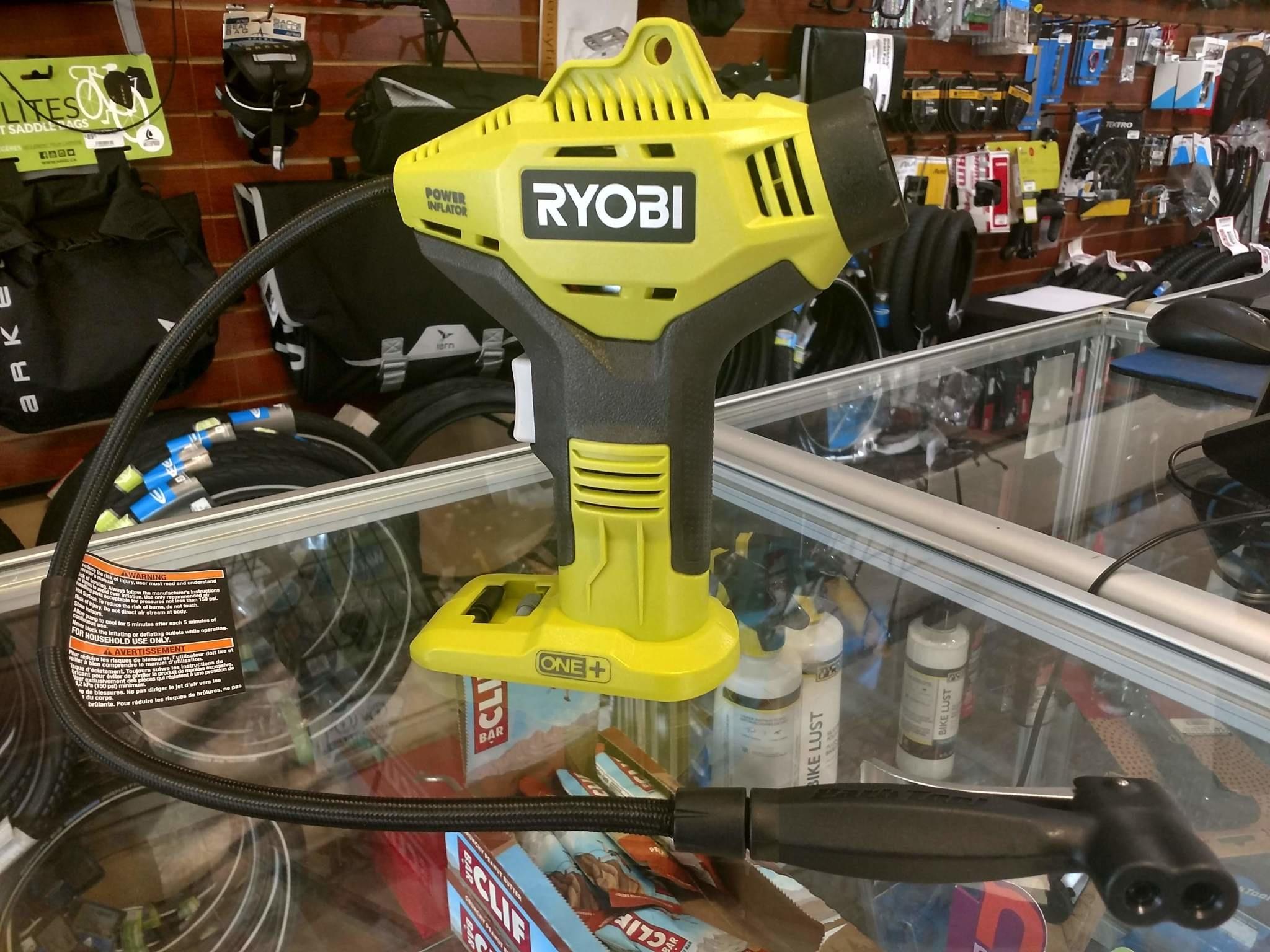 Ryobi Power Inflator Pump with Park Tool Head