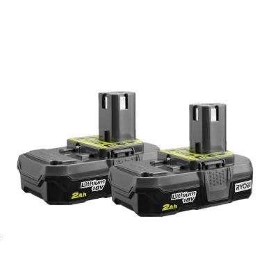 Ryobi 2Ah 18Volt 'One+' Lithium Battery, pair