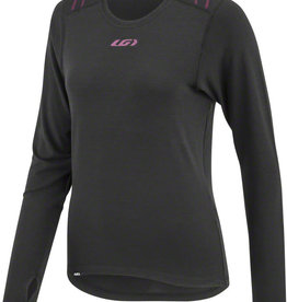 Garneau 2004 LS Women's Base Layer Top: Black/Purple SM