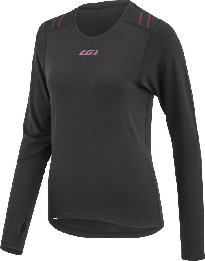 Garneau Garneau 2004 LS Women's Base Layer Top: Black/Purple SM