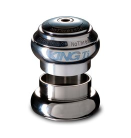 Chris King - Headset - NoThreadSet 1-1/8 Inch - Titanium - King Ti Logo