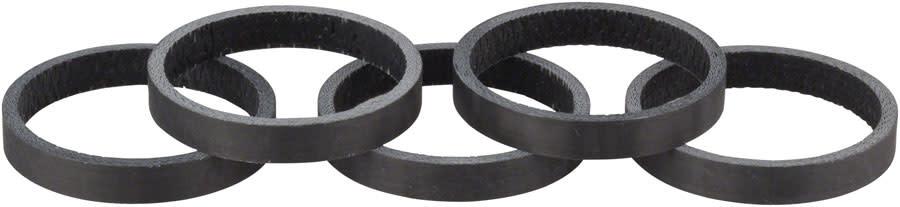 Whisky 5mm UD Carbon Spacer Matte Black 5-pack