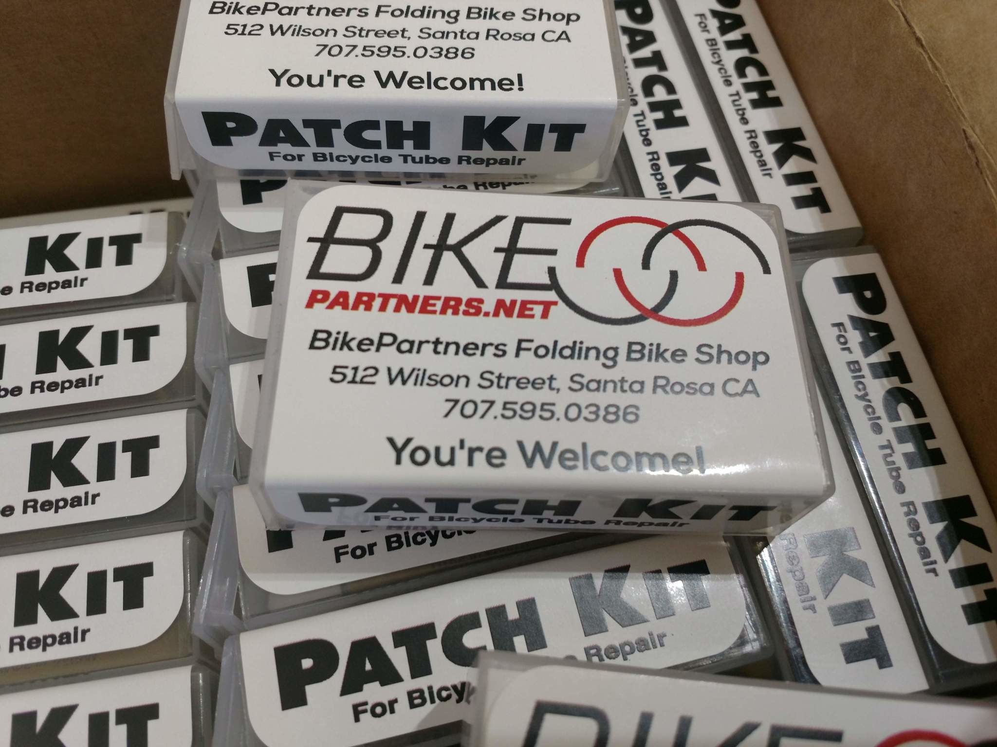 Small Custom Patch Kit, BikePartners branded