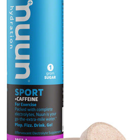 Nuun Sport + Caffeine Hydration Tablets: Wild Berry, Single tube