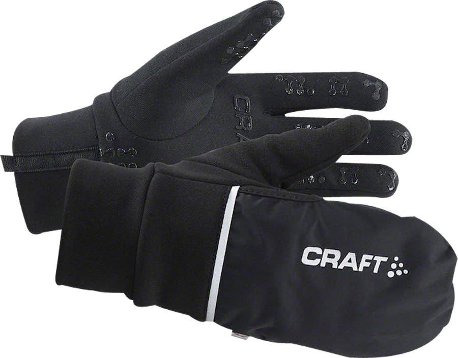 Craft Craft Hybrid Weather Gloves - Black, Full Finger