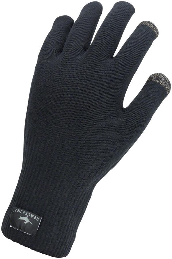 SealSkinz Waterproof All Weather Ultra Grip Gloves - Black, Full Finger, Unisex