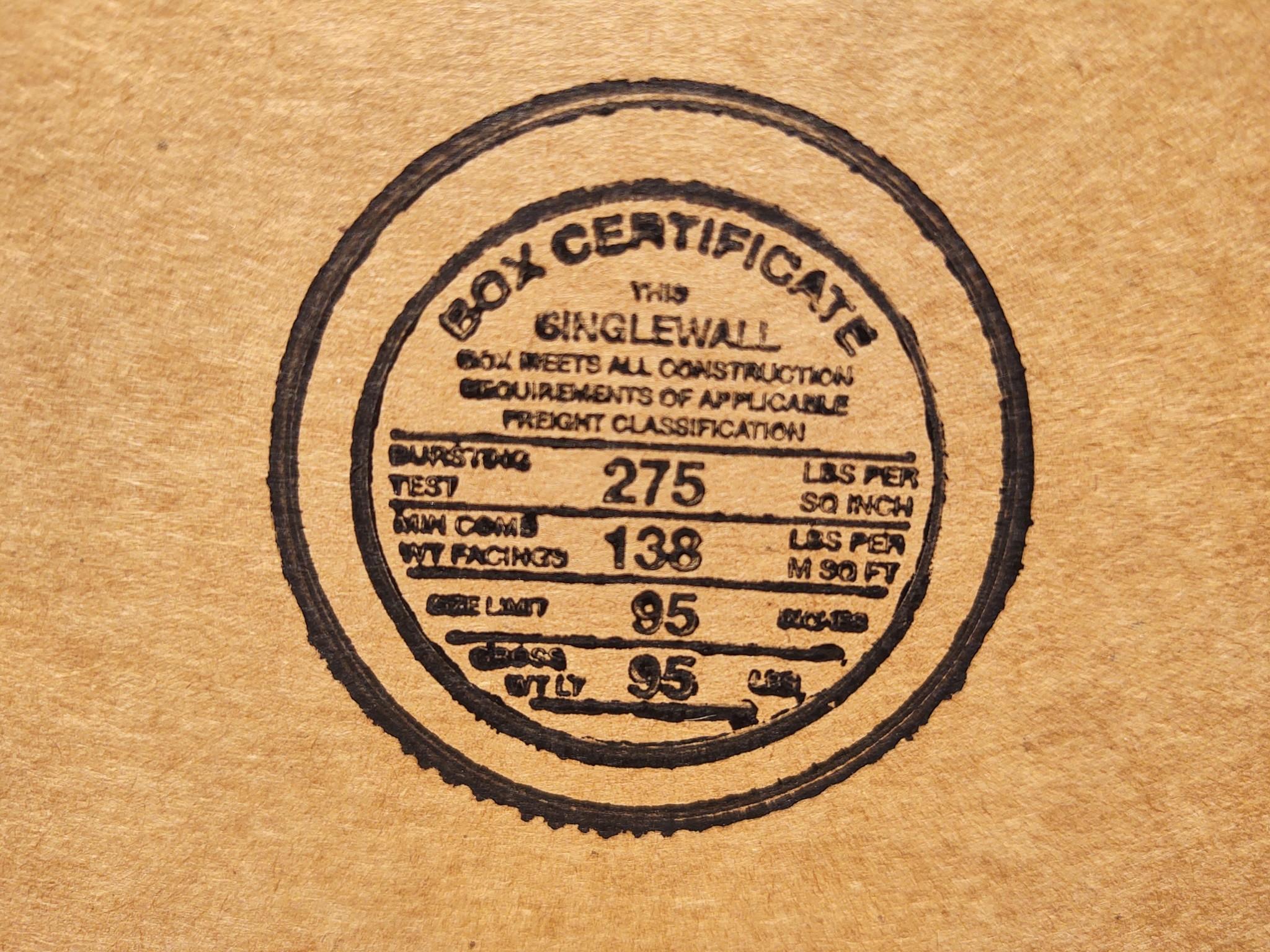 Cardboard box rating