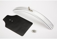 Brompton Mudguard fender blade and flap front Silver