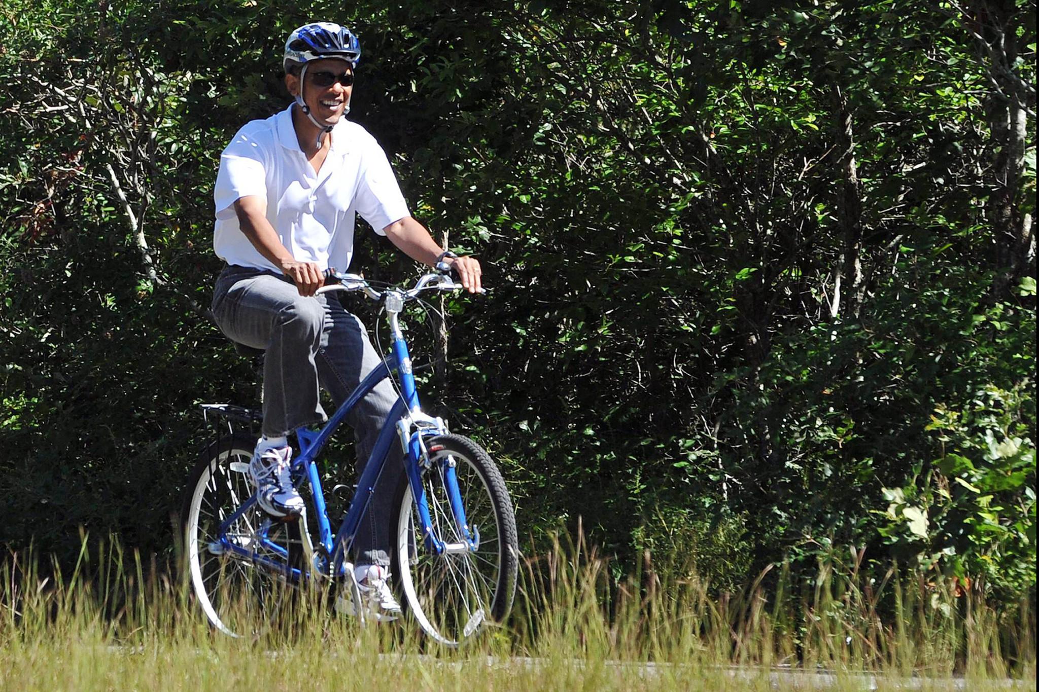 Barack Obama bike