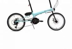 Bike Friday Bike Friday Ever-E-Day Minimalist, Robin Egg/Gloss Black