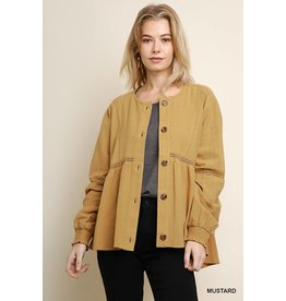 UMGEE DIANA Long Puff Sleeve Button Front Jacket