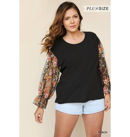 UMGEE PAIGE Floral Embroidered Plus Size Top