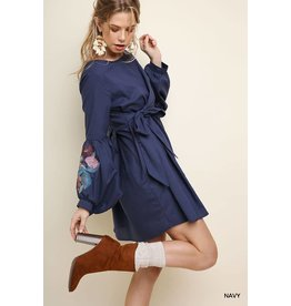 UMGEE JANIE Floral Long Puff Sleeve Dress