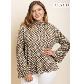 UMGEE BEVERLY Long Sleeve Plaid Top