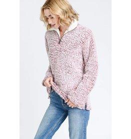 Love Tree Lyla Soft Sherpa Fleece Zip up Pull Over