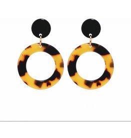 JAZZ Leopard Acrylic Circle Drop Earring