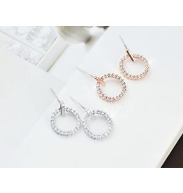 HARPER Circle Crystal Stud