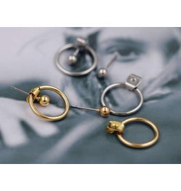 TRENDY Hallow Bead Stud Earring