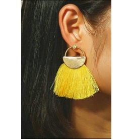 17KM Official Store CALI Gold Tassel Earrings